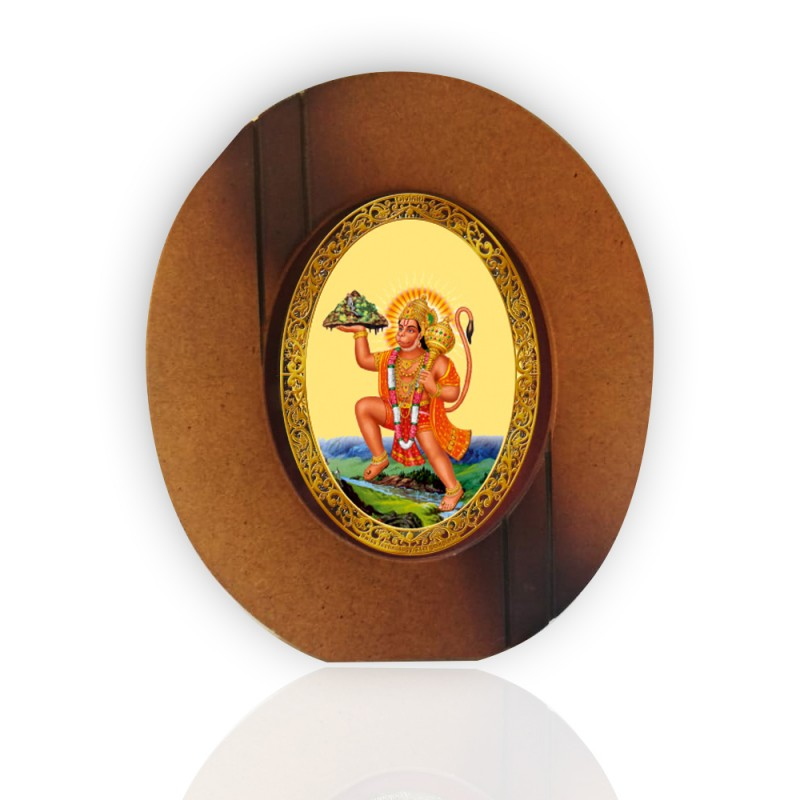 24K GOLD PLATED ROYALE 7D HANUMAN WITH MOUNTAIN