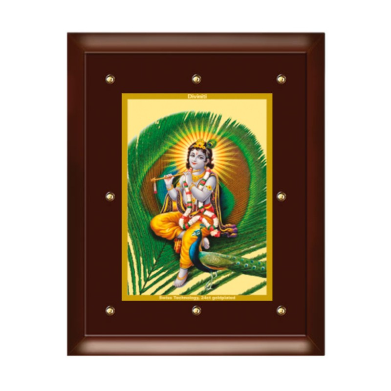 24K GOLD PLATED MDF FRAME SIZE 5 CLASSIC COLOR KRISHNA-4