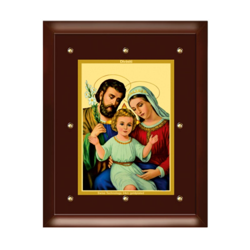 24K GOLD PLATED MDF FRAME SIZE 5 CLASSIC COLOR HOLY FAMILY