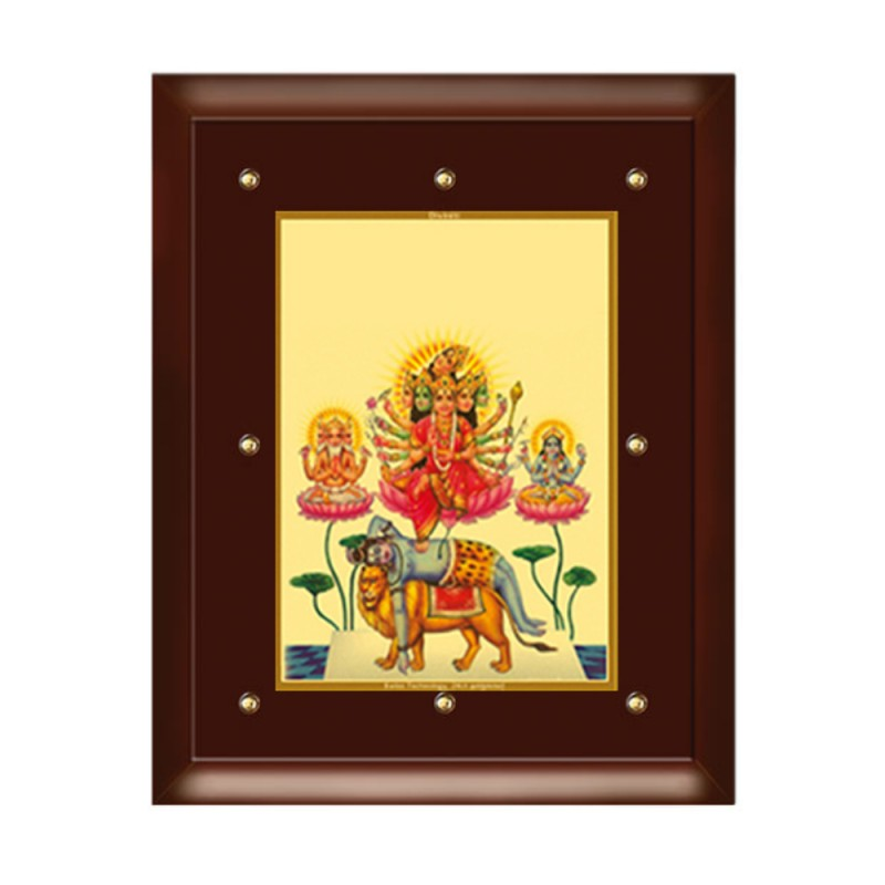 24K GOLD PLATED MDF FRAME SIZE 5 CLASSIC COLOR MAA BAGLAMUKHI
