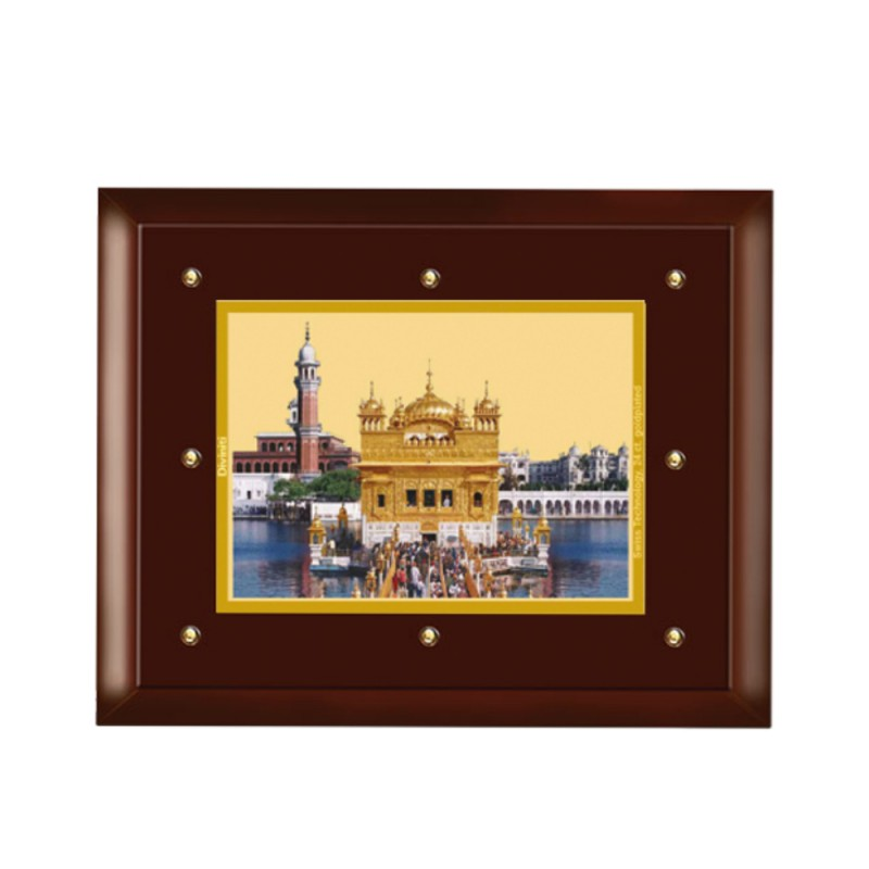 24K GOLD PLATED MDF FRAME SIZE 5 CLASSIC COLOR  GOLDEN TEMPLE