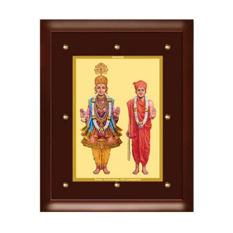24K GOLD PLATED MDF FRAME SIZE 5 CLASSIC COLOR SWAMI NARAYAN