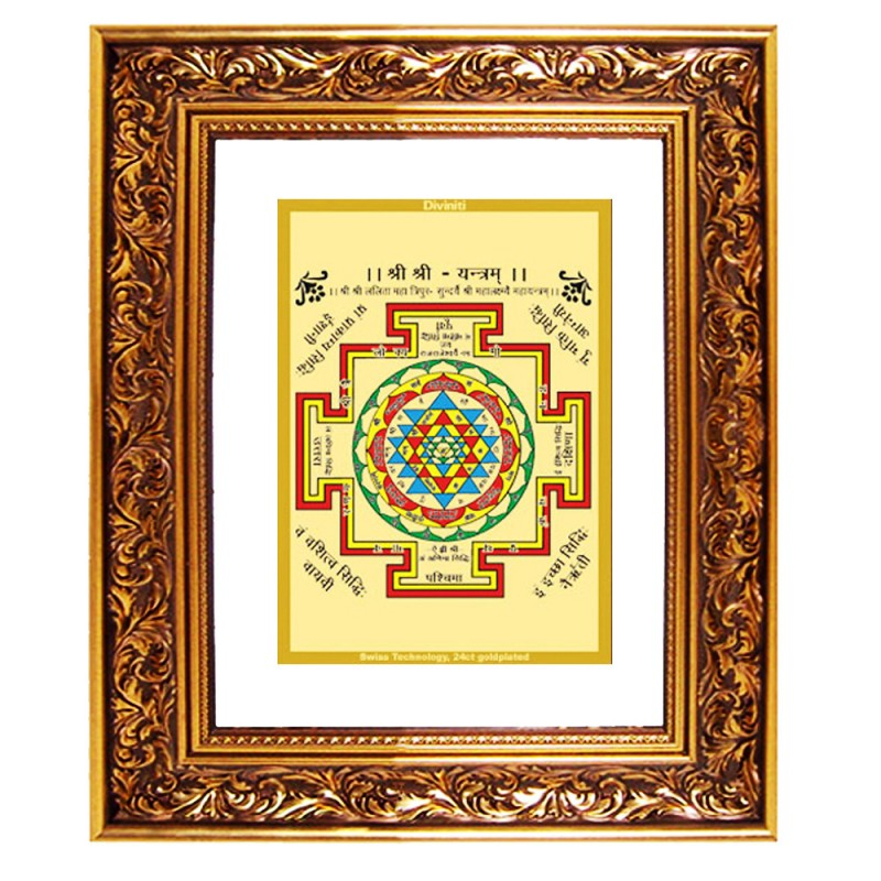 24K GOLD PLATED DG FRAME 93 SIZE 4.5 CLASSIC COLOR SHREE YANTRA