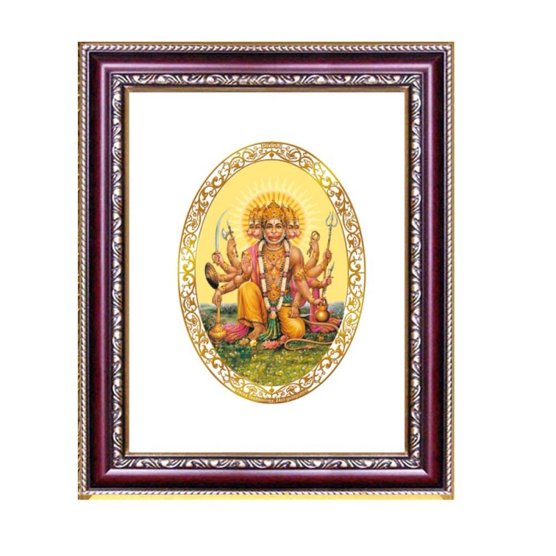 DG FRAME 105 SIZE 1 ROYALE COLOR  OVAL PANCHMUKHI HANUMAN