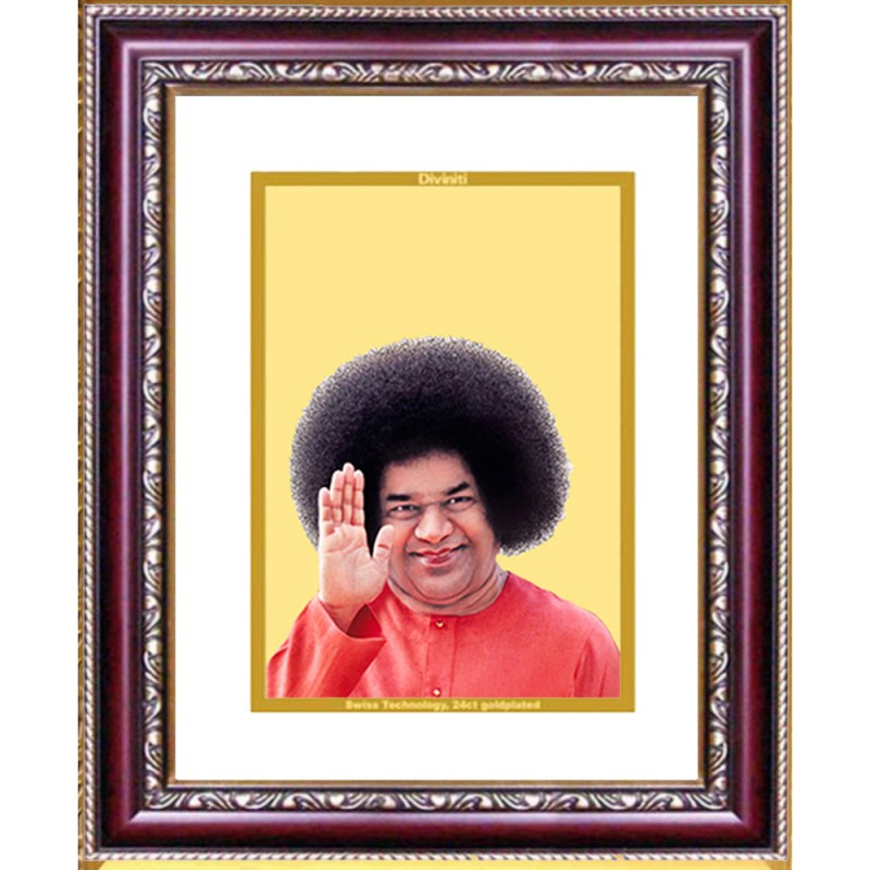 24K GOLD PLATED DG FRAME 105 SIZE 2 CLASSIC COLOR SATYA SAI