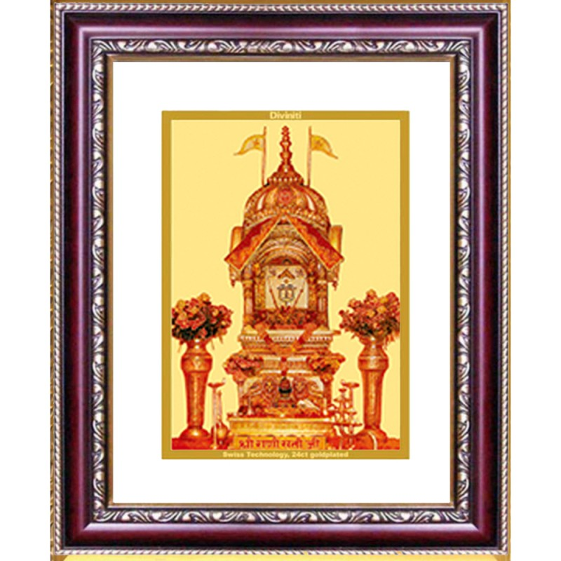 24K GOLD PLATED DG FRAME 105 SIZE 2 CLASSIC COLOR RANI SATI