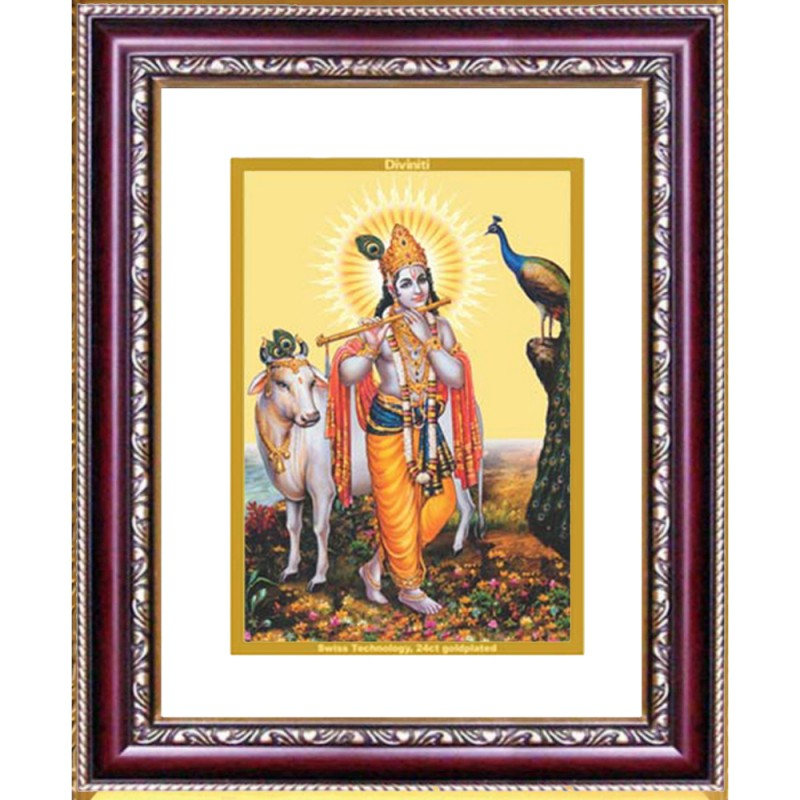 DG FRAME 105 SIZE 2 CLASSIC COLOR RECTANGULAR KRISHNA WITH COW