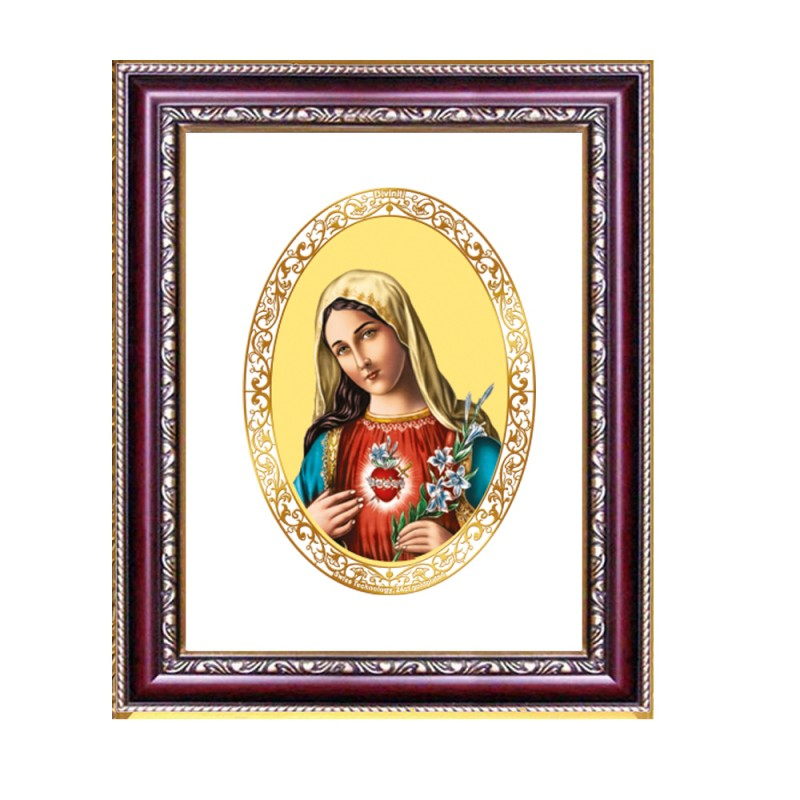DG FRAME 105 SIZE 2 ROYALE COLOR  OVAL MOTHER MARY