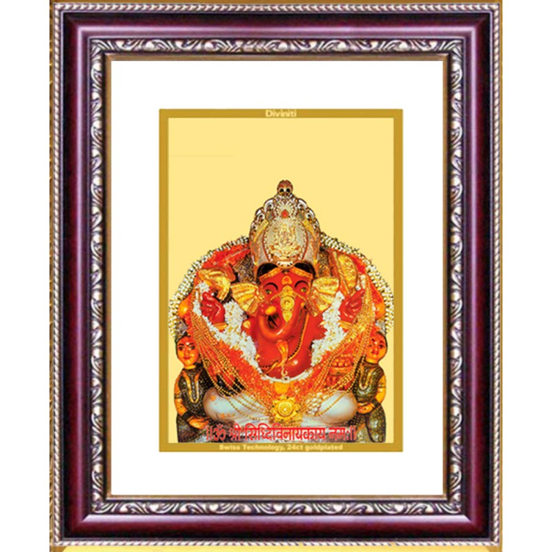 24K GOLD PLATED DG FRAME 105 SIZE 2.5 CLASSIC COLOR SIDDHIVINAYAK