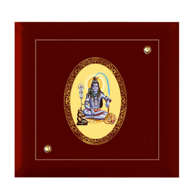 24K GOLD PLATED MDF FRAME SIZE 7D ROYALE COLOR OVAL SHIVA