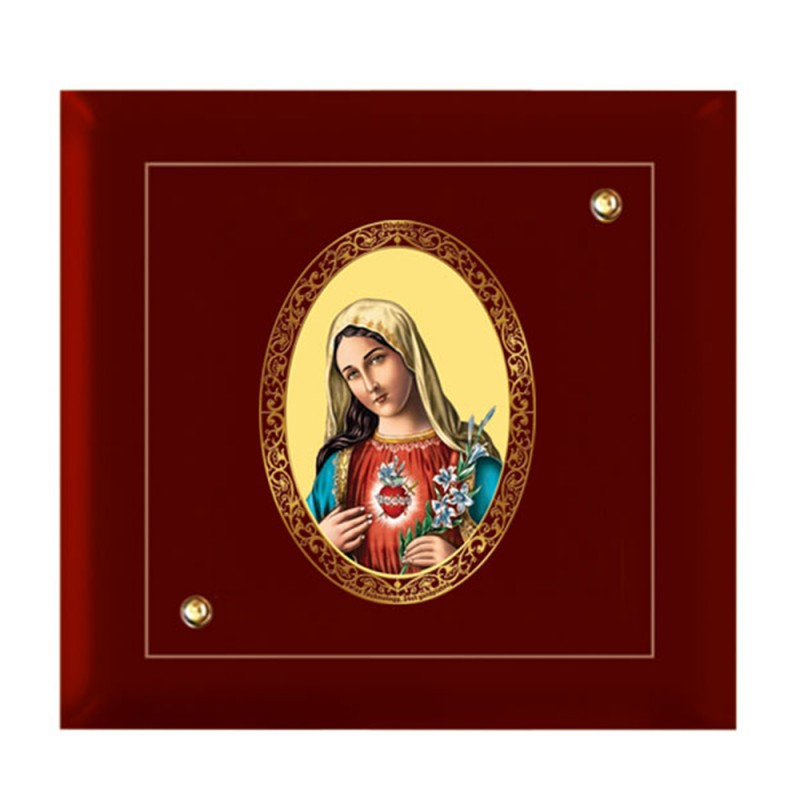 24K GOLD PLATED MDF FRAME SIZE 7D ROYALE COLOR MOTHER MARY