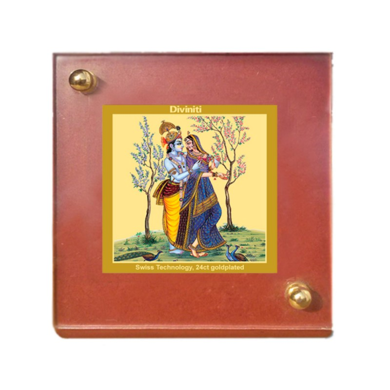24K GOLD PLATED MDF 1B CLASSIC COLOR RADHA KRISHNA