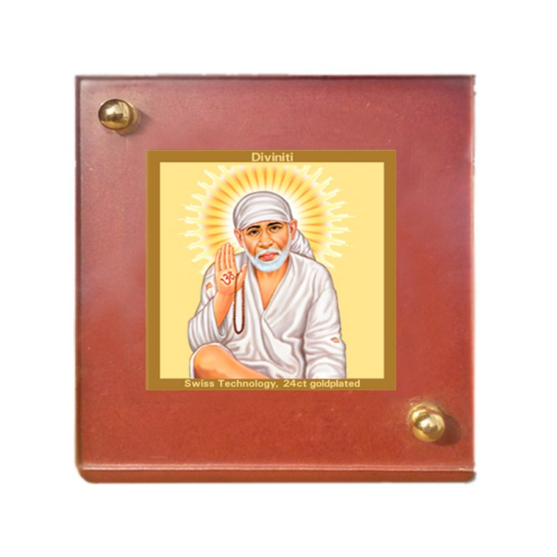 24K GOLD PLATED MDF 1B CLASSIC COLOR SAI BABA-3