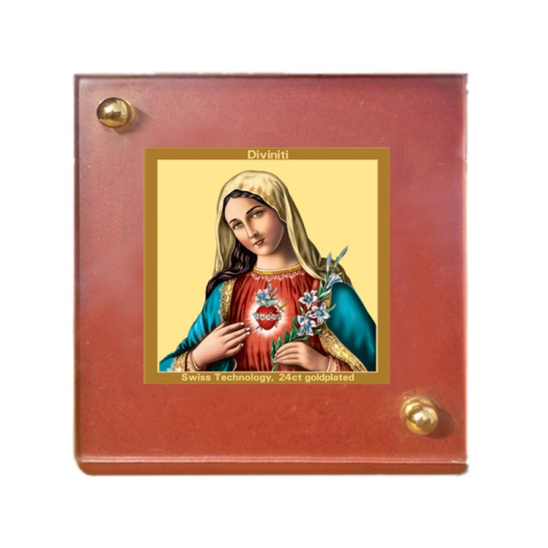 24K GOLD PLATED MDF 1B CLASSIC COLOR MOTHER MARY