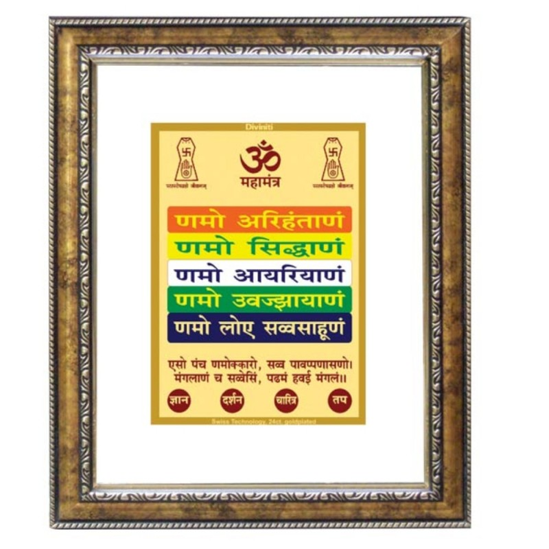 24K GOLD PLATED DG FRAME 113 SIZE 2 CLASSIC COLOR NAMOKAR MANTRA