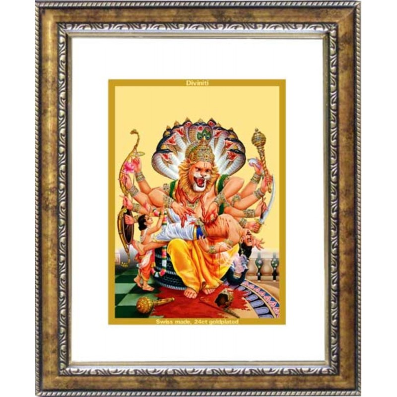 24K GOLD PLATED DG FRAME 113 SIZE 2 CLASSIC COLOR NARSIMHA