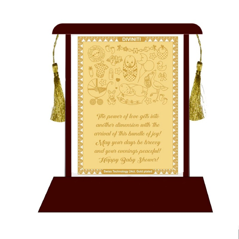 24K GOLD PLATED Baby Shower Wishes