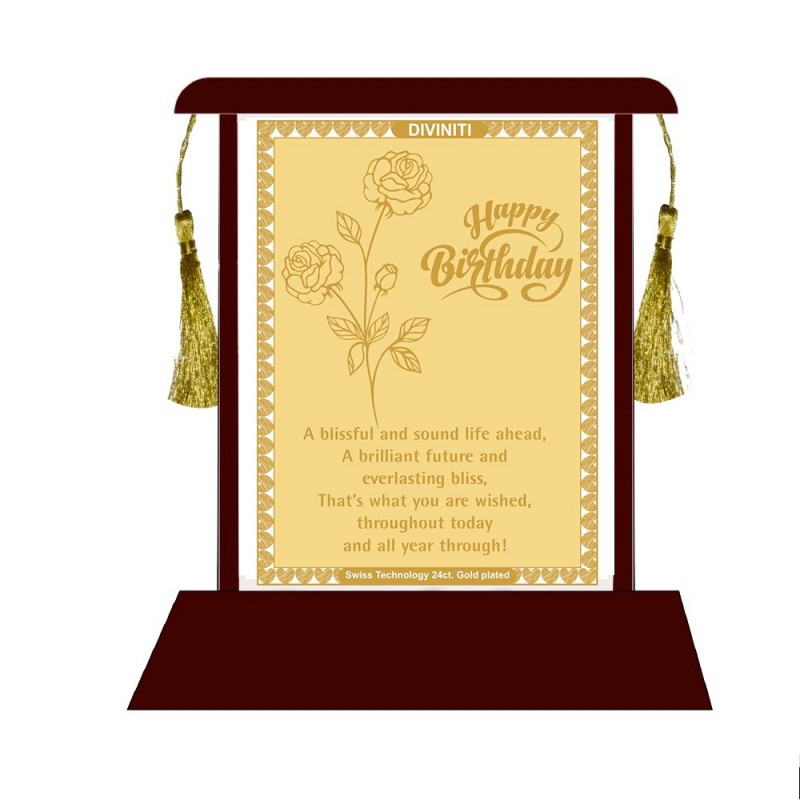 MDF Table Top Frame with Birthday Wishes