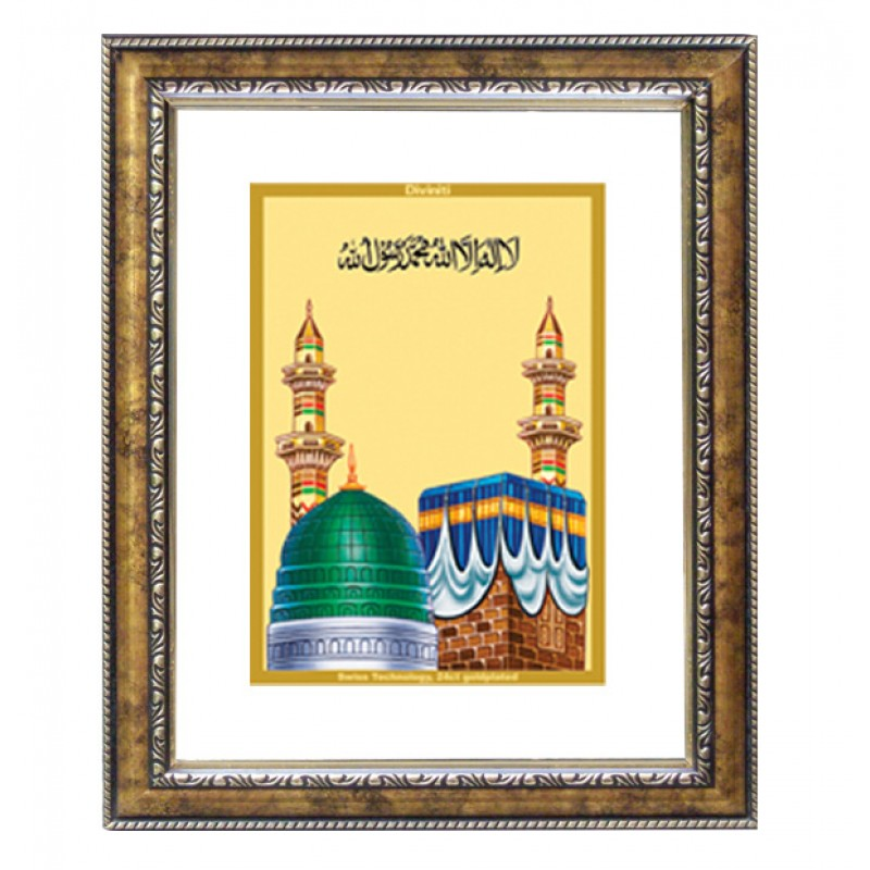 24K GOLD PLATED DG FRAME 113 SIZE 1 CLASSIC COLOR MACCA MADINA