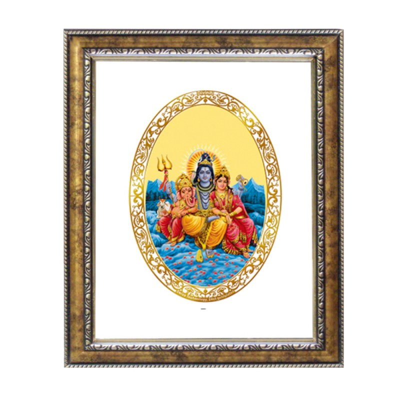 DG FRAME 113 SIZE 1 ROYALE COLOR  OVAL SHIV PARIVAR