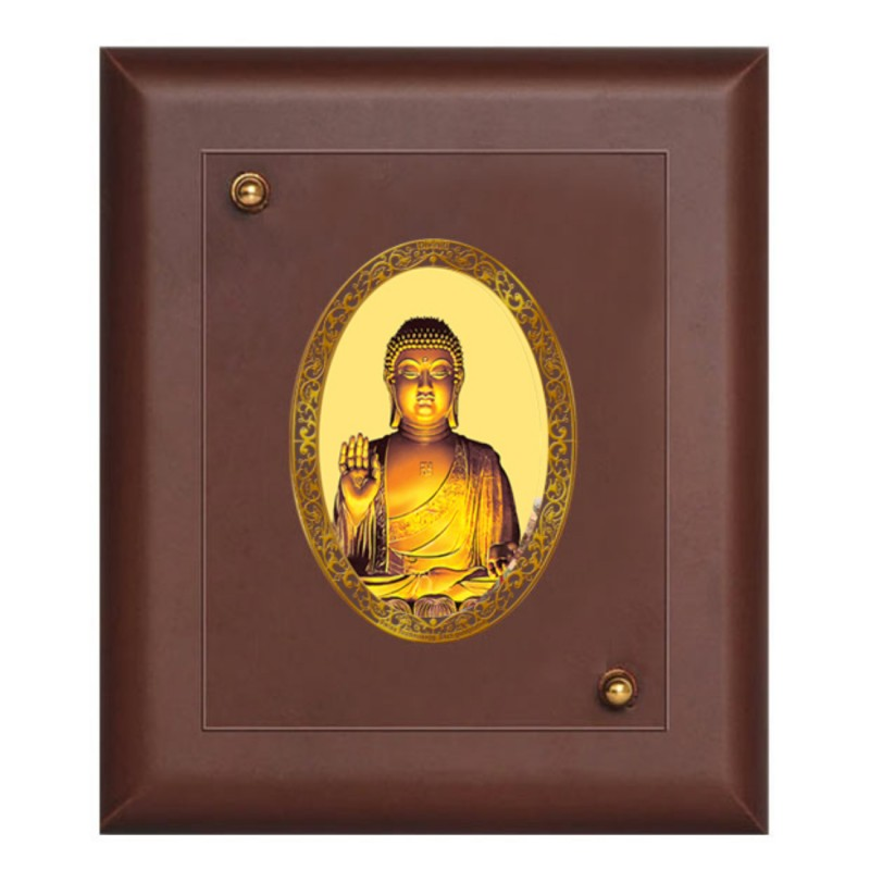 24K GOLD PLATED MDF FRAME SIZE 1 ROYALE COLOR BUDDHA