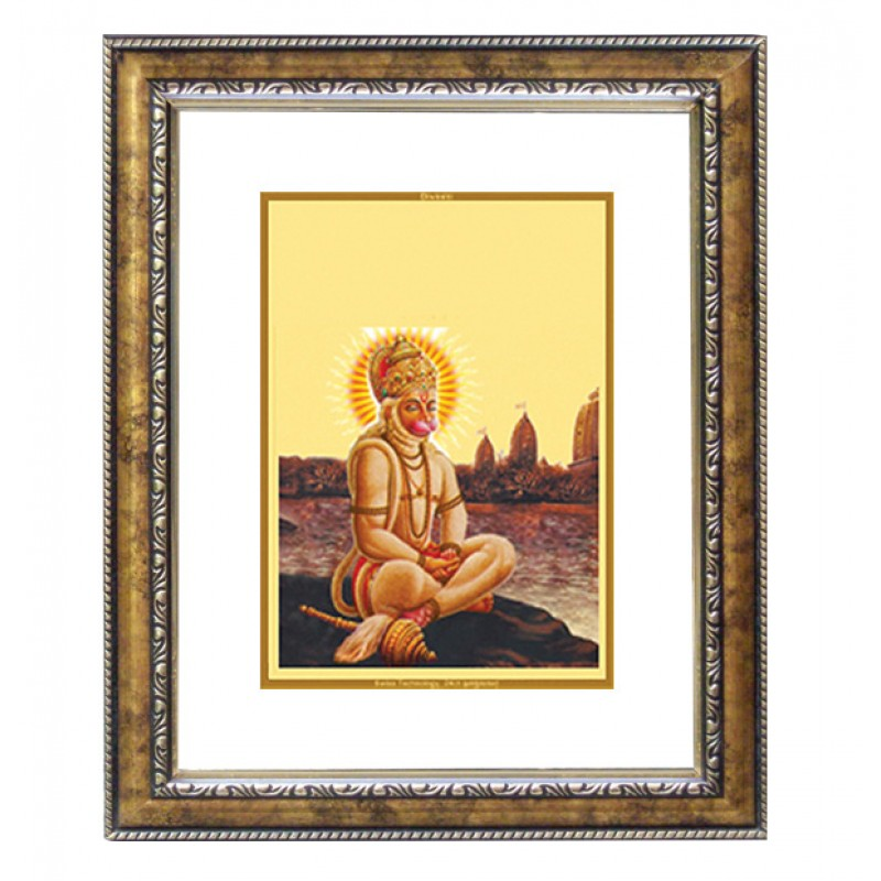 DG FRAME 113 SIZE 2 CLASSIC COLOR RECTANGULAR HANUMAN WITH PRAYER