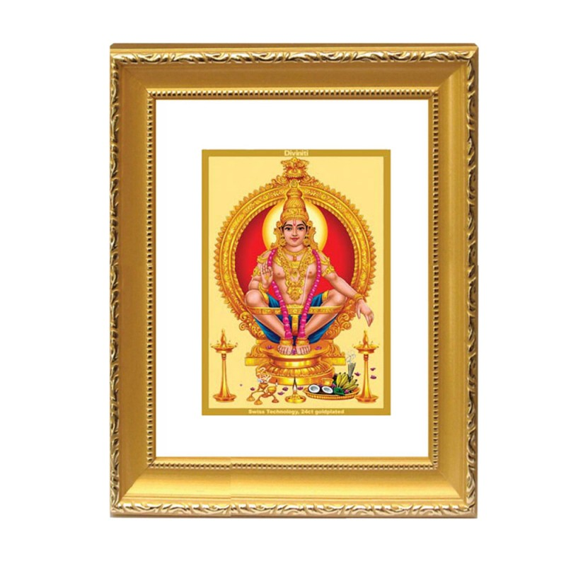 24K GOLD PLATED DG FRAME 101 SIZE 2 CLASSIC COLOR AYYAPAN