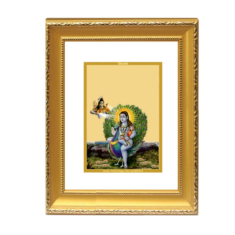 24K GOLD PLATED DG FRAME 101 SIZE 2 CLASSIC COLOR BABA BALAK NATH