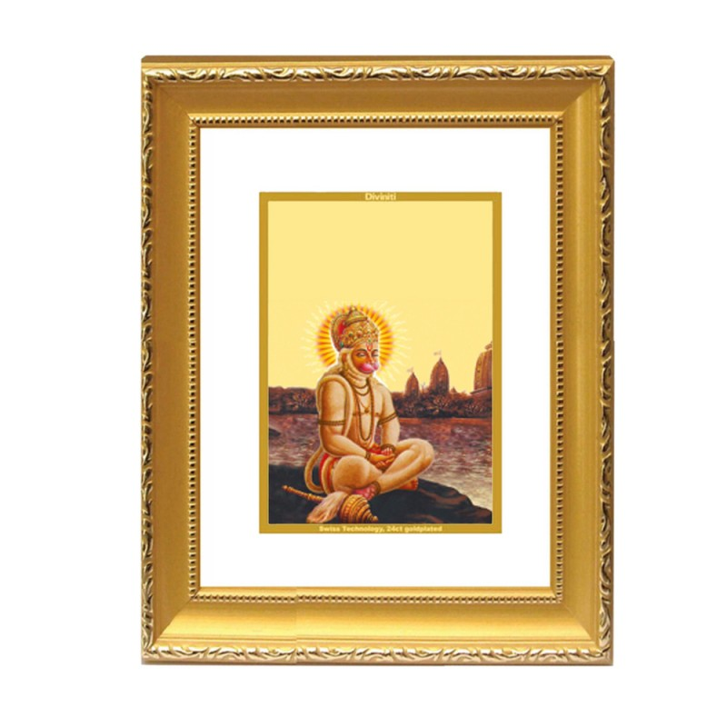 24K GOLD PLATED DG FRAME 101 SIZE 2 CLASSIC COLOR HANUMAN IN PRAYER