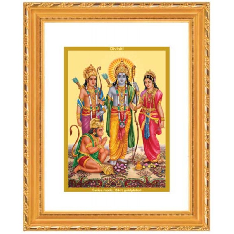 24K GOLD PLATED DG FRAME 103 SIZE 2 ROYALE  PREMIUM COLOR RAM DARBAR