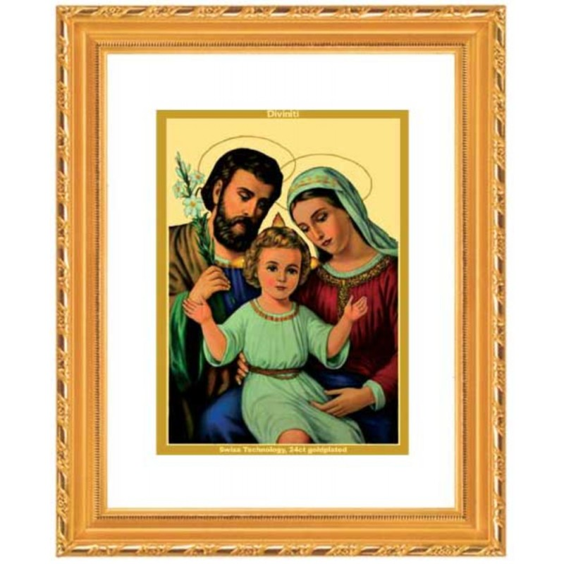 24K GOLD PLATED DG FRAME 103 SIZE 2 CLASSIC COLOR HOLY FAMILY