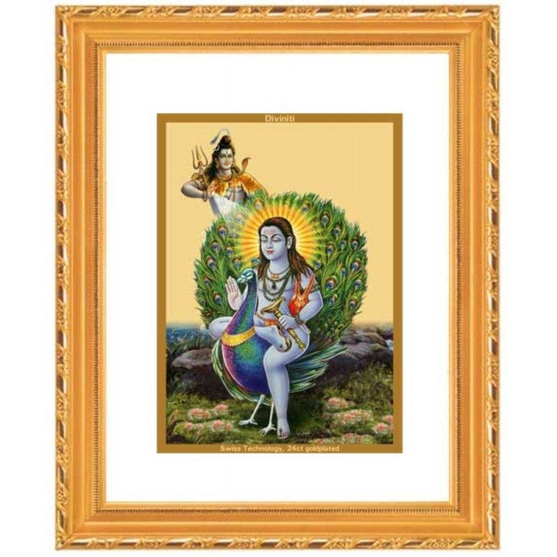 24K GOLD PLATED DG FRAME 103 SIZE 2 CLASSIC COLOR BABA BALAK NATH