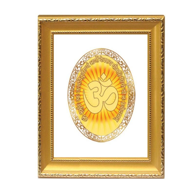 24K GOLD PLATED DG FRAME 101 SIZE 2 ROYALE COLOR OM GAYATRI MANTRA
