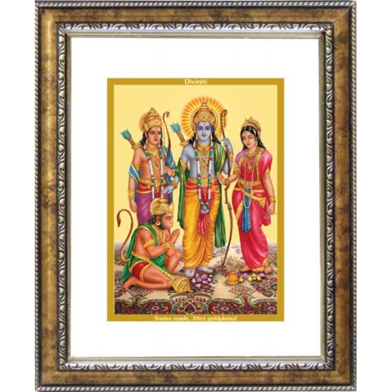 24K GOLD PLATED DG FRAME 113 SIZE 2 CLASSIC COLOR RAM DARBAR