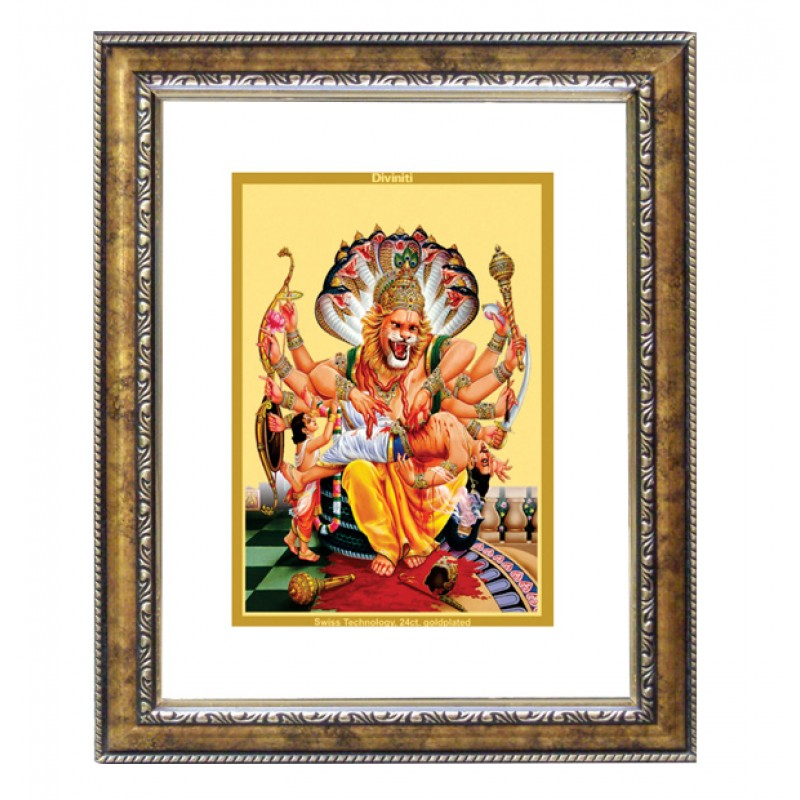 24K GOLD PLATED DG FRAME 113 SIZE 2.5 CLASSIC COLOR NARSIMHA