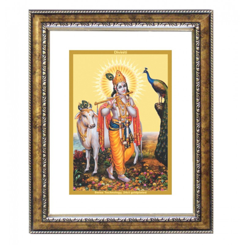 DG FRAME 113 SIZE 2.5 CLASSIC COLOR RECTANGULAR KRISHNA WITH COW