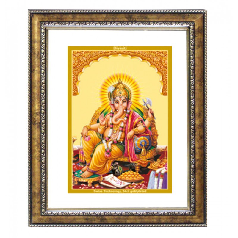 DG FRAME 113 SIZE 2.5 CLASSIC COLOR RECTANGULAR GANESHA SIDE POSE
