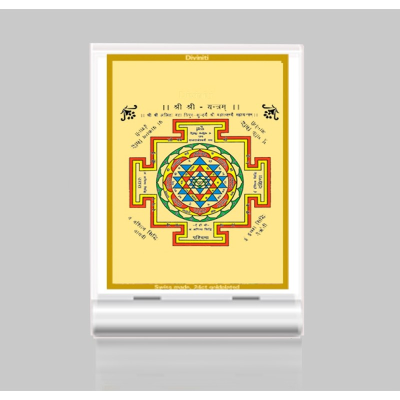 24K GOLD PLATED ACF 3 CLASSIC COLOR SHREE YANTRA