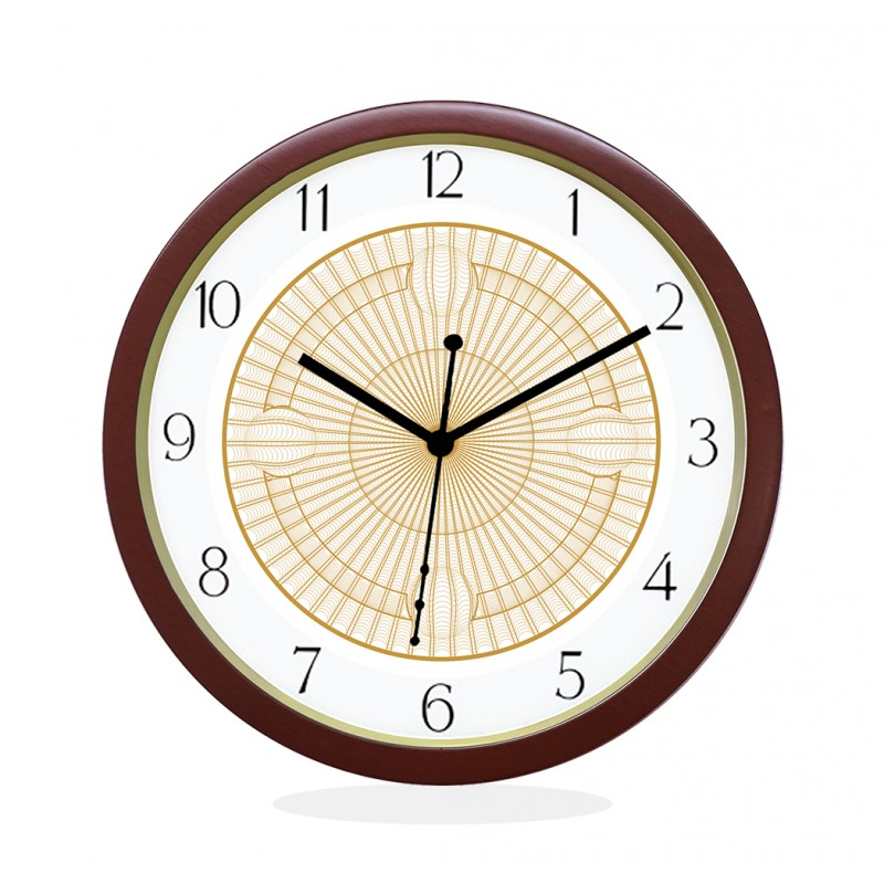 WALL CLOCK BROWN ROUND NUMERIC  NET