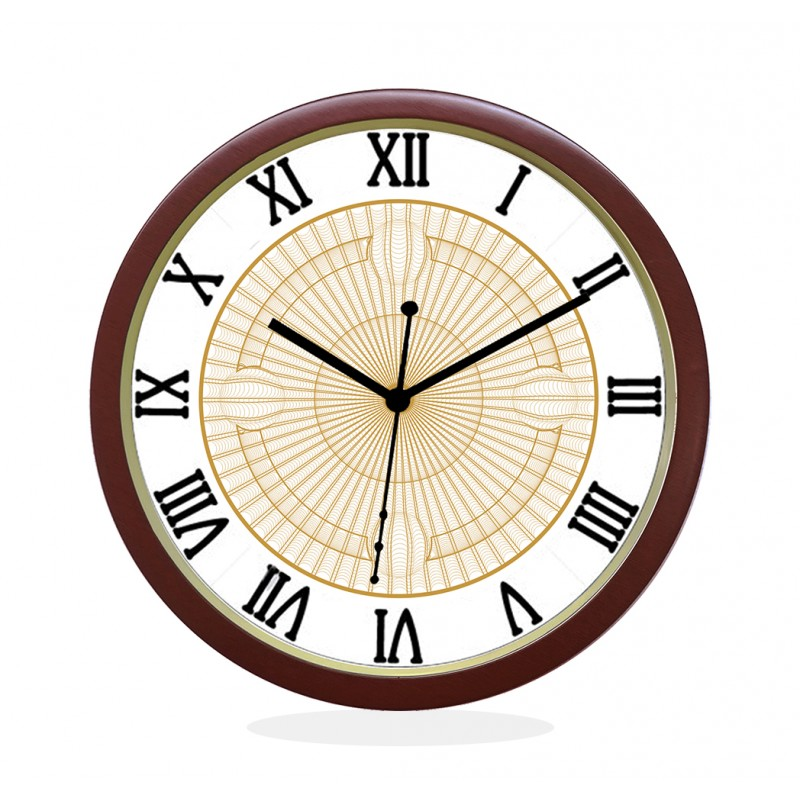 WALL CLOCK BROWN ROUND ROMAN  NET