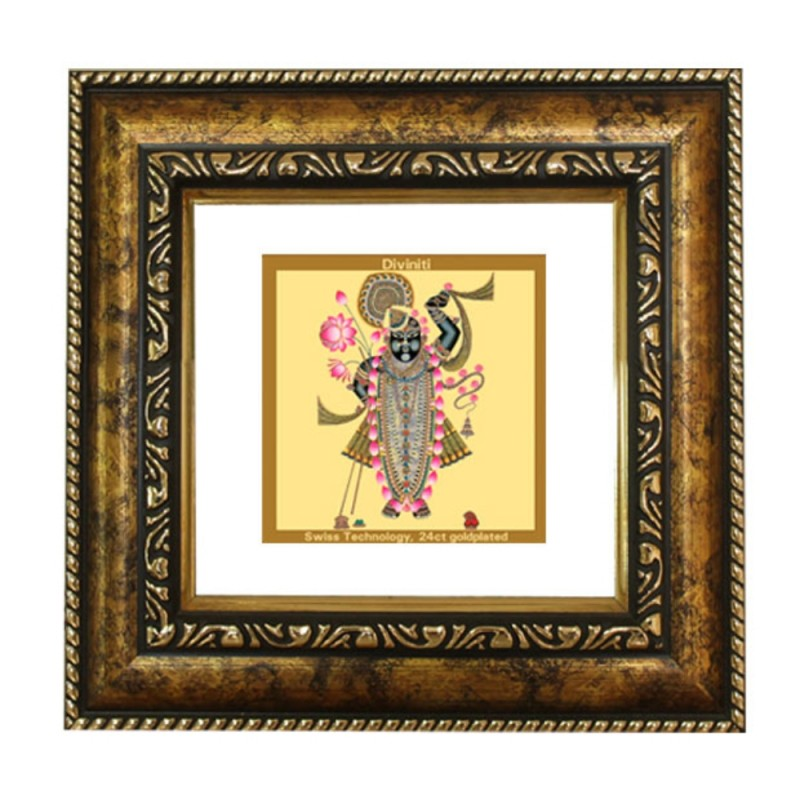 24K GOLD PLATED DG FRAME 113 SIZE 1A CLASSIC COLOR SRI NATH