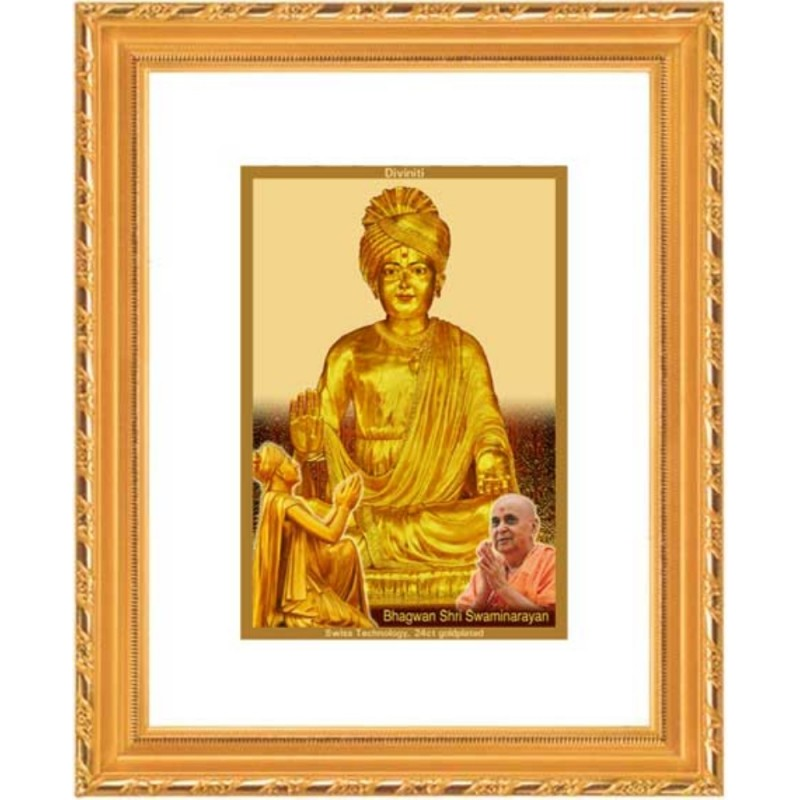24K GOLD PLATED DG FRAME 103 SIZE 1 CLASSIC GOLD SWAMI NARAYAN