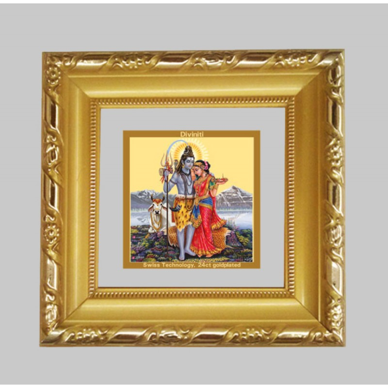 24K GOLD PLATED DG FRAME 103 SIZE 1A CLASSIC COLOR SHIV PARVATI -1