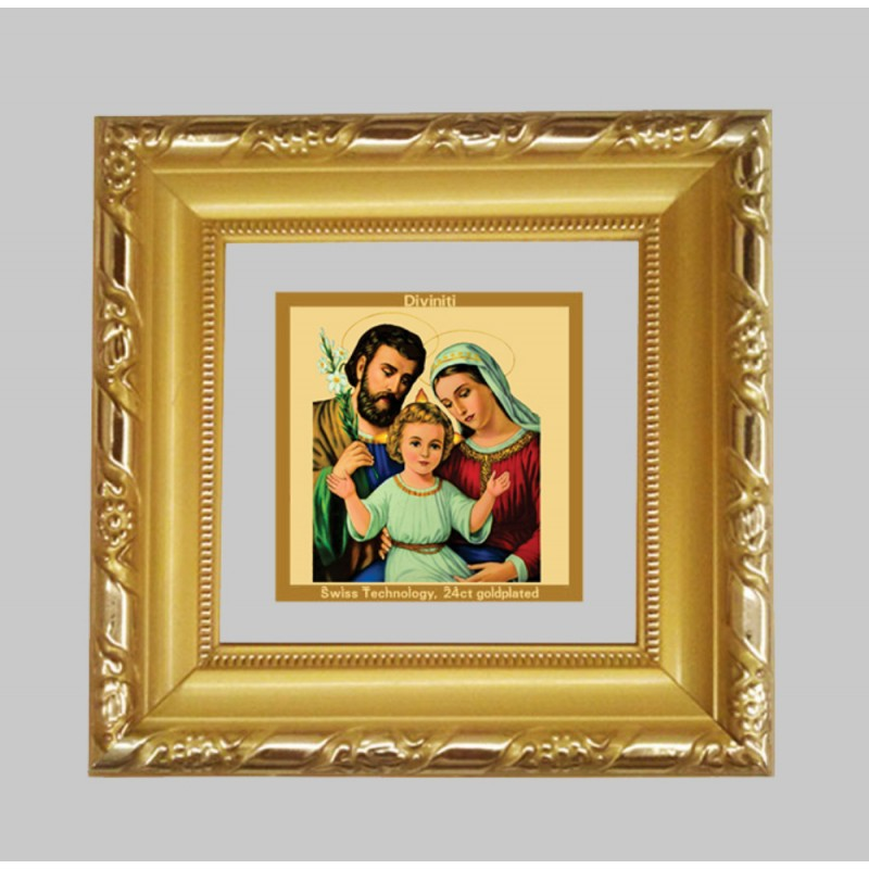 24K GOLD PLATED DG FRAME 103 SIZE 1A CLASSIC COLOR HOLY FAMILY