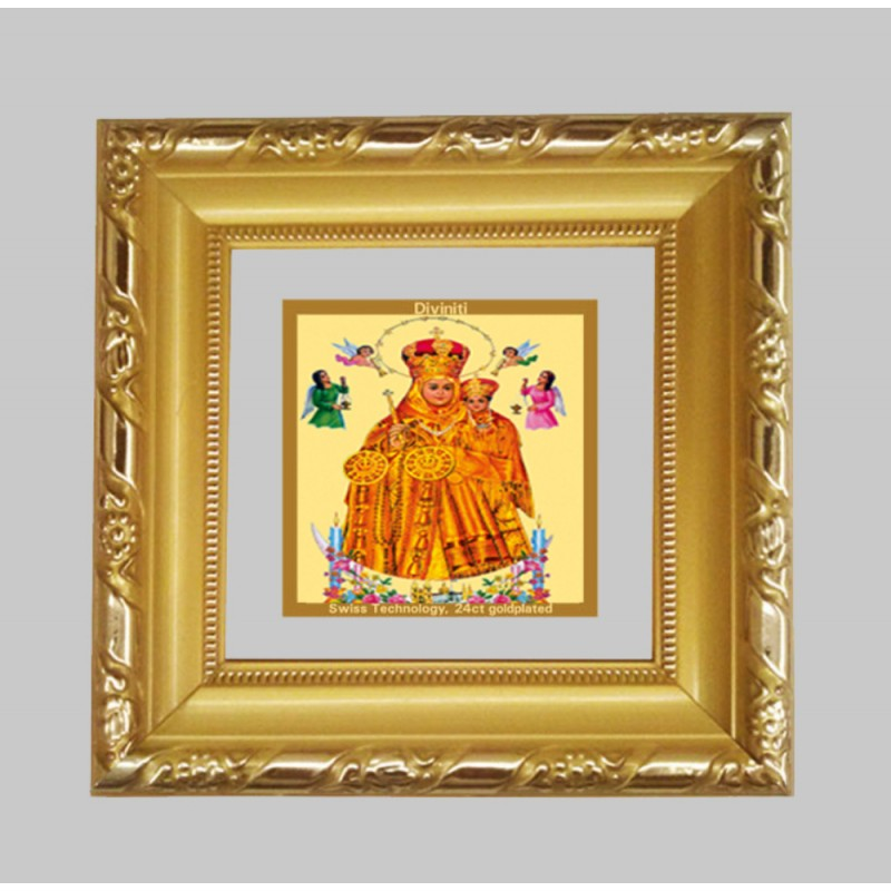 24K GOLD PLATED DG FRAME 103 SIZE 1A CLASSIC COLOR LADY OF HEALTH