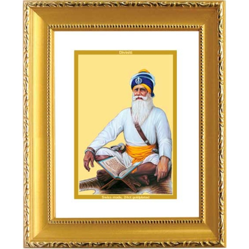 24K GOLD PLATED DG FRAME 101 SIZE 1 CLASSIC GOLD BABA DEEP SINGH