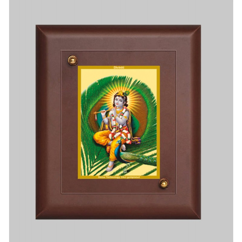 MDF FRAME SIZE1 CLASSIC COLOR  RECTANGULAR FEATHER KRISHNA