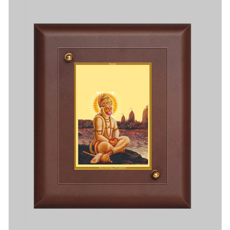 MDF FRAME SIZE1 CLASSIC COLOR  RECTANGULAR HANUMAN WITH PRAYER
