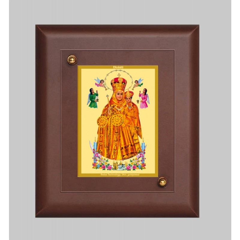 24K GOLD PLATED MDF FRAME SIZE 1 CLASSIC COLOR LADY OF HEALTH
