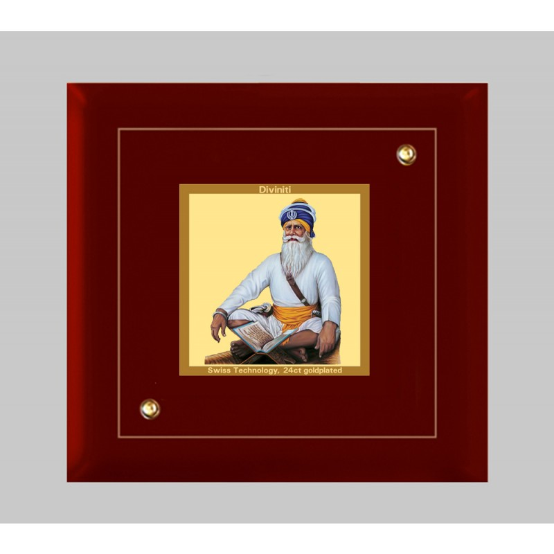 24K GOLD PLATED MDF FRAME SIZE 1A CLASSIC COLOR  BABA DEEP SINGH